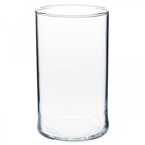 Wazon szklany przezroczysty cylindryczny Ø12cm H20cm