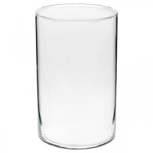 Szkło dekoracyjne, szkło na świece, dekoracja stołu, wazon na kwiaty Ø13cm H21cm