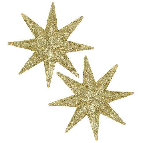 Gwiazda brokatowa złota Ø10cm 12szt.