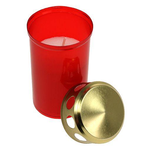 Lampka nagrobna Cylindryczna Czerwona Ø6cm H10cm 12szt.