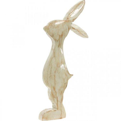 Figurka dekoracyjna, króliczek, dekoracja wiosenna, wielkanocna, drewniana dekoracja 30,5cm