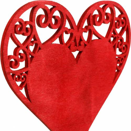 Serduszko na patyku, ozdobne serce wtykowe, dekoracja ślubna, walentynki, dekoracja serca 16szt