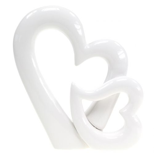 Rzeźba dekoracyjna serca W15cm 2szt