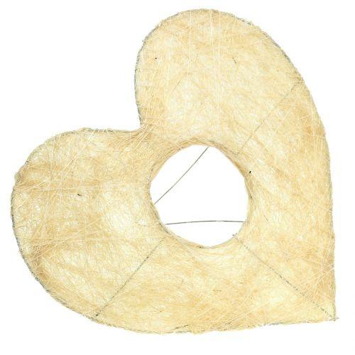 Mankiet sercowy sizal bielony 25cm 6szt.