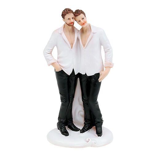 Figurka ślubna mężczyzna para 19cm