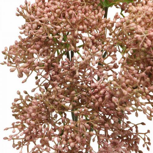 Elder Sztuczna gałązka kwitnąca różowa 52cm 4szt.