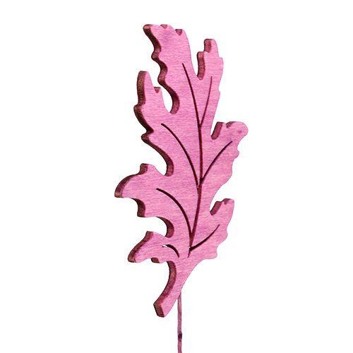Mieszanka liści drewna jako wtyczka 8cm L30cm Erika, zielona 12szt
