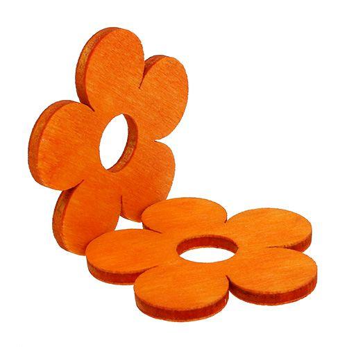 Kwiatek drewniany do rozsypania pomarańczowy 4cm 72szt.
