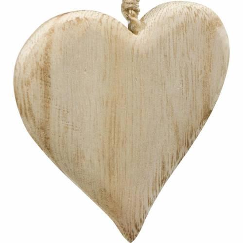 Deco Serce Walentynkowe Drewniane Serce do Powieszenia Naturalne Drewniane Deco 4szt