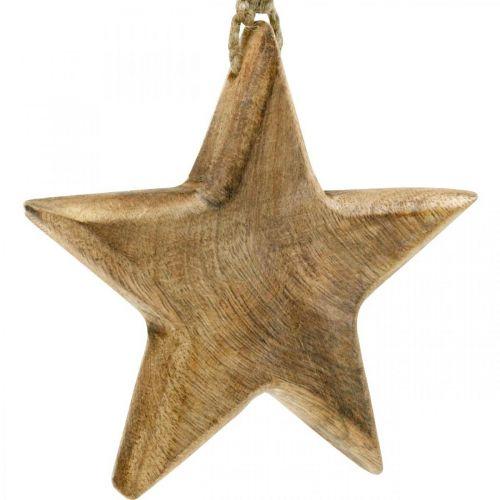 Dekoracyjna gwiazda, drewniana zawieszka, ozdoba świąteczna 14cm × 14cm