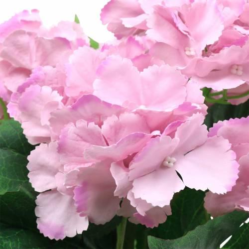 Hortensja w doniczce sztuczna różowa 35cm