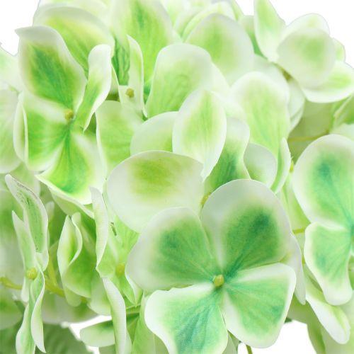 Hortensja sztuczna zielona, biała 68cm