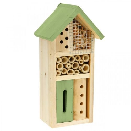 Insect Hotel Green Wood Nesting Garden Insect House H26cm
