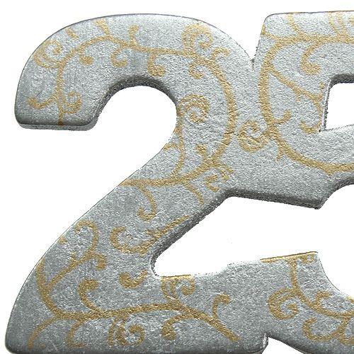"""Rocznica """"25"""" wykonana z drewna, srebro 36szt"""