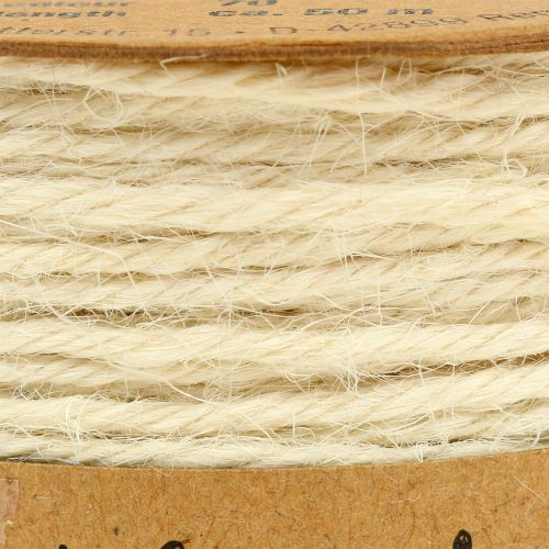 Sznurek Jutowy Biały Ø2mm 100g