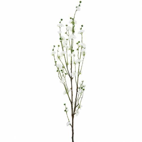 Gałąź kwiat wiśni biała sztuczna dekoracja gałąź kwiat wiśni dekoracja wiosenna
