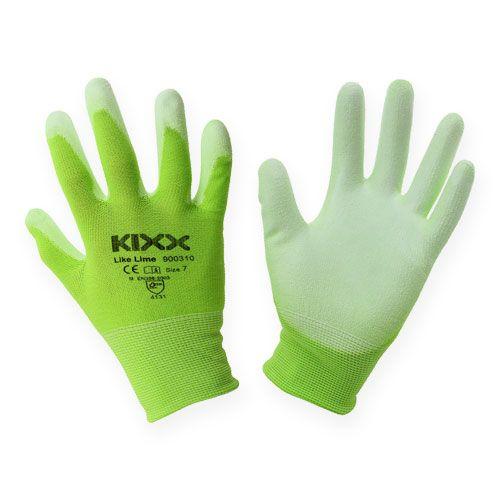 Kixx Rękawice ogrodnicze nylonowe rozmiar 8 jasnozielony, limonka