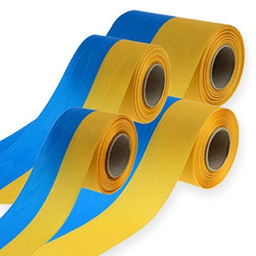 Wstążki do wieńców Mozaika niebiesko-żółta