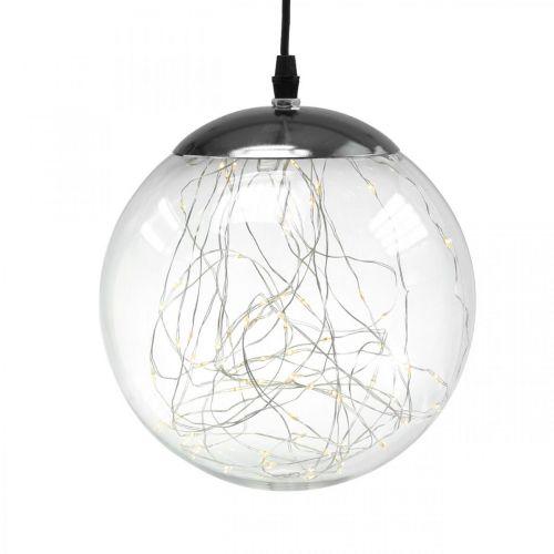 Kula LED duża wewnętrzna i zewnętrzna Ø20cm przezroczysta 80L ciepła biel