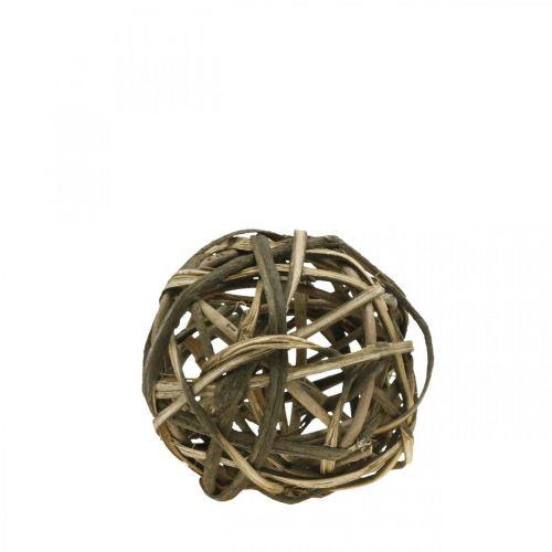 Deco Ball Vine Wood Natural Ø15cm