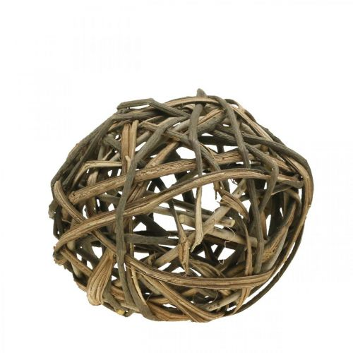 Deco Ball Vine Wood Natural Ø20cm