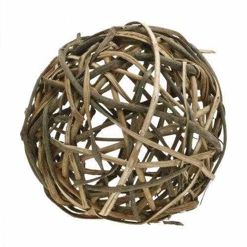 Deco Ball Vine Wood Natural Ø25cm