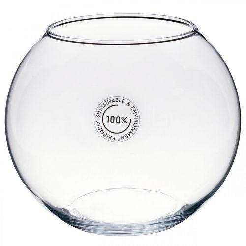Wazon kulisty, szklana złota rybka, szklany lampion, szkło dekoracyjne Ø18,5cm H16cm