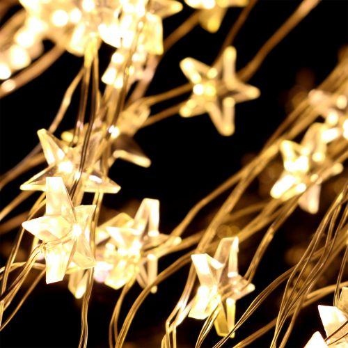 Wiązka świetlna LED gwiazda na zewnątrz 320s 1m srebrna/ciepła biel