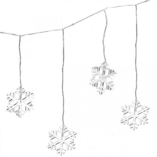 LED Window Decoration Christmas Snowflakes Warm White Na baterię 105cm