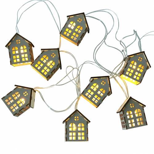 Łańcuch świetlny LED domy zasilane bateriami