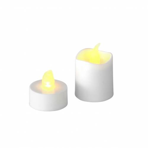 LED Tealight Candles Warm White Flame Effect Zestaw 16 różnych 32Baterie