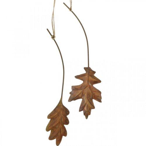 Liście Metal do zawieszenia Rdzawobrązowe Jesienne Liście 7,5-10cm 4szt