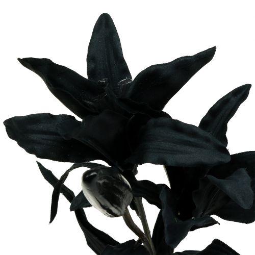Sztuczny Kwiat Lilia Czarny 84cm