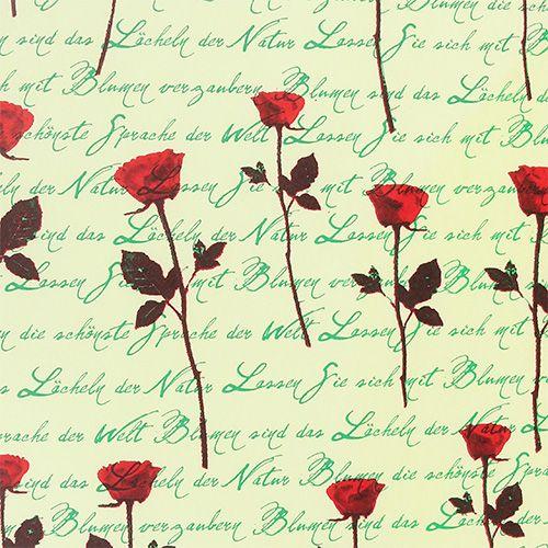 Papier mankietowy 25cm 100m Róża kremowa