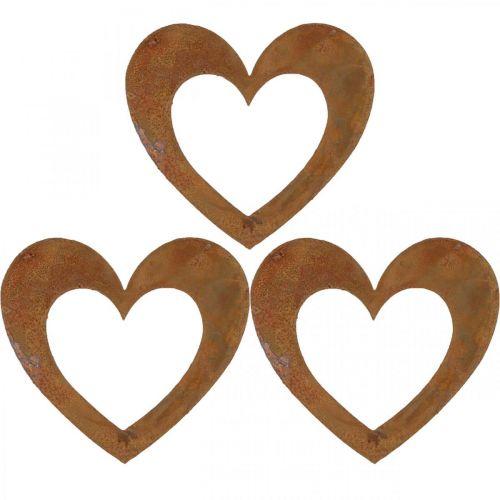 Serce Rdza Dekoracja Ogrodowa Metalowe Serce 10cm 12szt