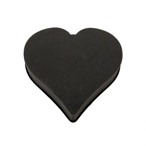 Pianka korkowa masa sercowa czarna 28cm x 30cm x 5cm 2St