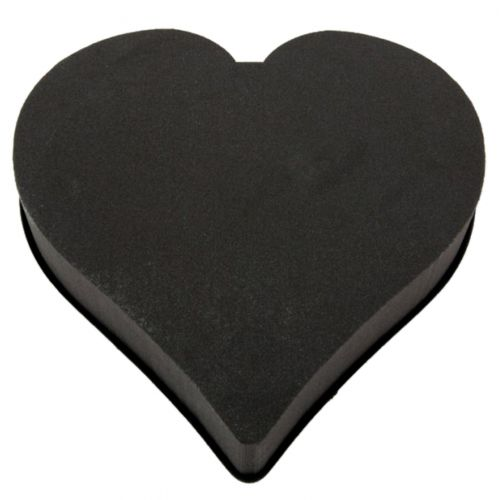 Pianka korkowa masa sercowa czarna 38cm 2szt.
