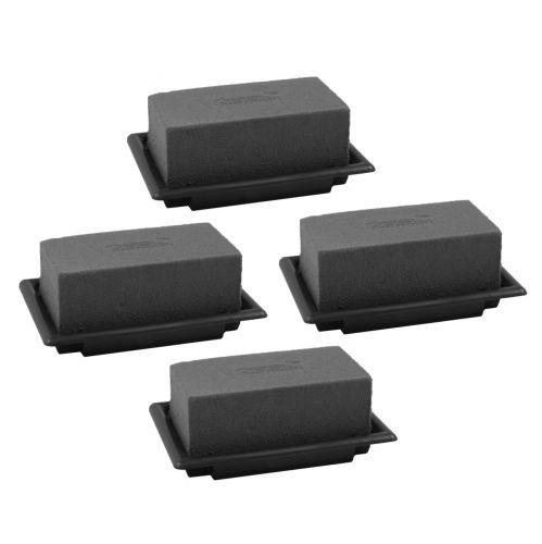 OASIS® Black Table Deco Mini Pianka Wtykana Czarna 4szt.