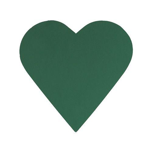 Pianka korkująca serce masa korkująca zielona 31cm × 29cm 2szt.