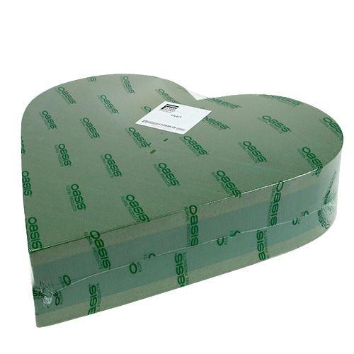 Pianka korkowa serce 3D masa korkowa zielona 38cm x 37cm x 8cm 2St