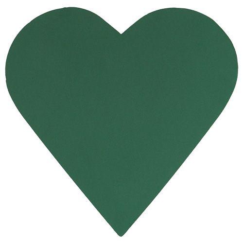 Pianka korkowa serce masa korkowa zielona 53cm 2szt dekoracja ślubna