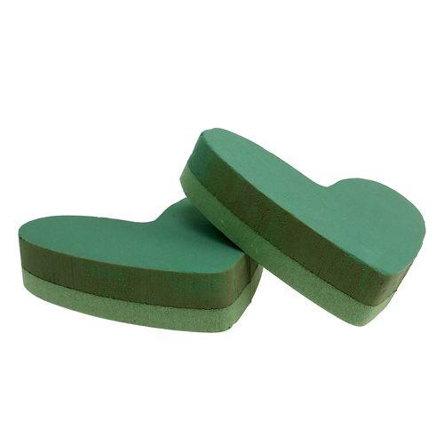 Masa korkująca serce pianka korkująca zielona 24cm x 25cm 2szt.