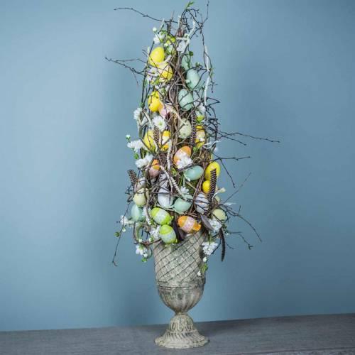 Jajka wielkanocne do zawieszenia zielone, białe, żółte 6cm 12szt.