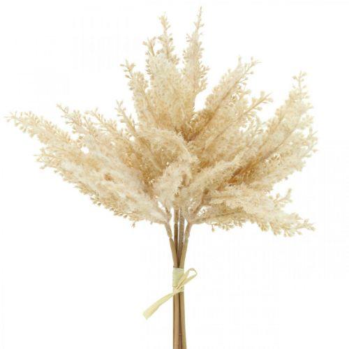 Sztuczna trawa pampasowa kremowa sucha kwiatowa 35cm 4szt.
