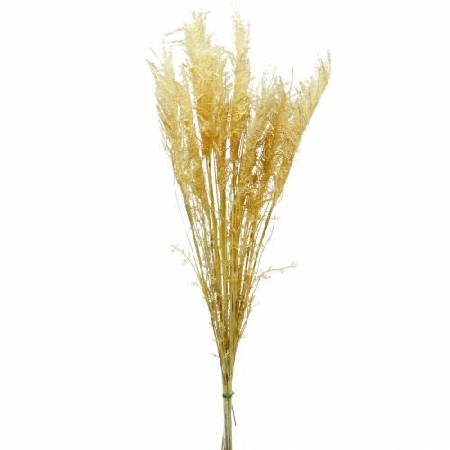 Trawa pampasowa żółta Sztuczna trawa ozdobna Roślinność sucha 3szt