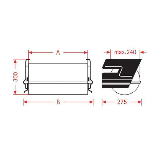 Dozownik folii papierowej pod stół ZAC 50cm
