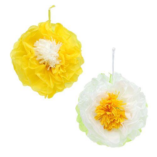 Papierowy kwiatek 28 cm do zawieszenia. 2st