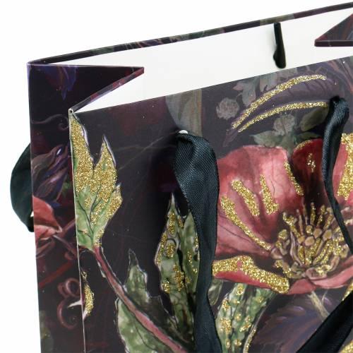 Torba prezentowa na butelki z kwiatami 8,5 cm x 14 cm wys. 36 cm