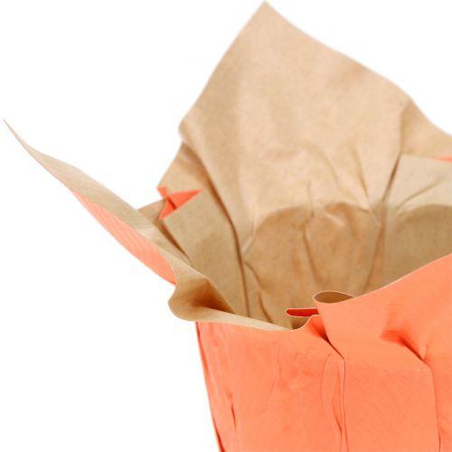 Doniczka papierowa Cachepot pomarańczowa/czerwona Ø12cm 12szt.