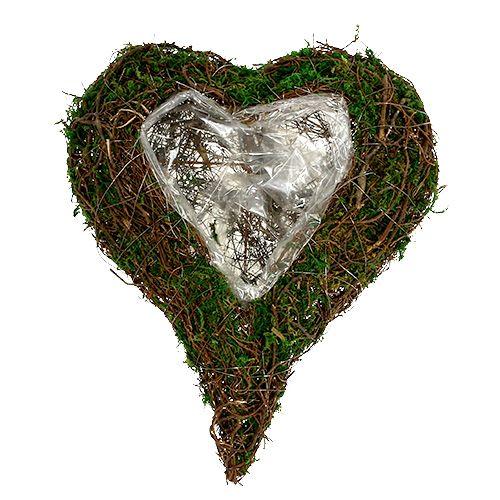 Serce roślinne jako podstawa do aranżacji 30x35cm W8cm